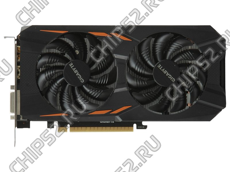 "Видеокарта GIGABYTE ""GeForce GTX 1050 WINDFORCE OC 2G 2ГБ"" GV-N1050WF2OC-2GD (GeForce GTX 1050, DDR5, DVI, 3xHDMI, DP) (PCI-E) (ret)"