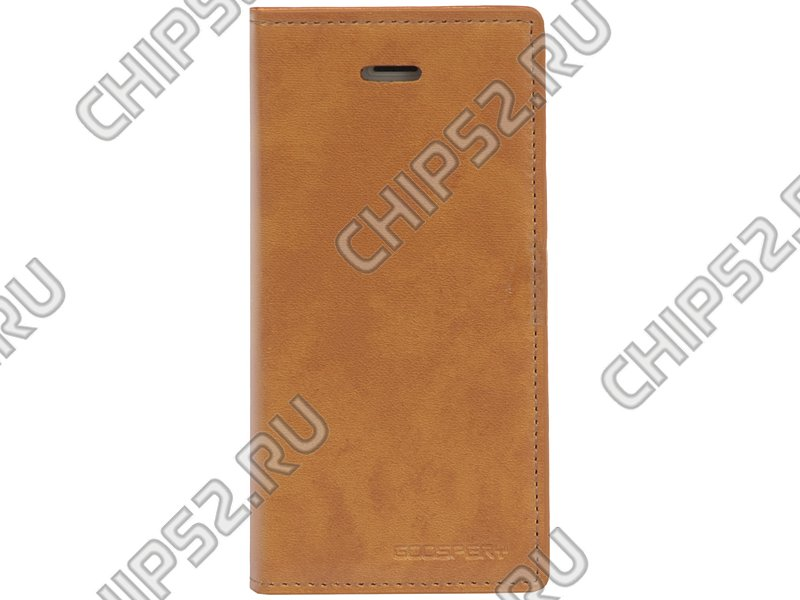 "Чехол Mercury ""Goospery Leather Flip Dairy Case"" для Apple iPhone 5, светло-коричневый"